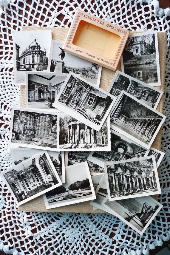 Old French Collection Of 20 Photos Souvenir B&W, Versailles Palace, Circa 1920s