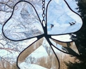 Beveled Stained Glass Shamrock Sun Catcher