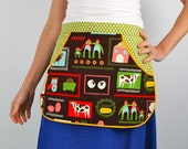 Clothespin Apron in Michael Miller Summer Farming