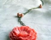 Peach Poppy Necklace