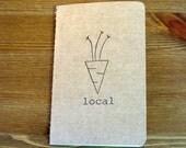 Local Carrot Moleskine Notebook /small / plain / black ink /