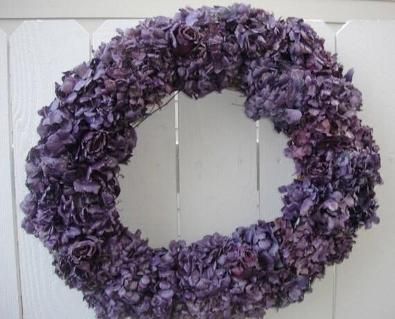 Lavender Hydrangea Wreath      Hydrangea Wreath  Clearance Priced     NOW ON SALE    Hydrangea Wreath