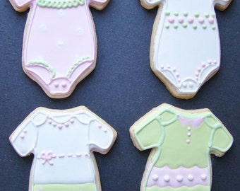 Baby girl Onsie cookie favors