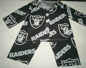 NFL Raiders Pajamas for american boy/girl doll