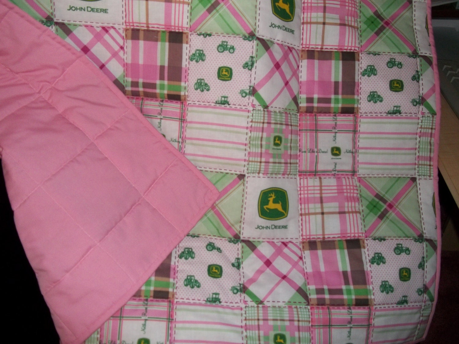 John Deere Bedding Pink/Green Homemade Baby Toddler Bed by ...