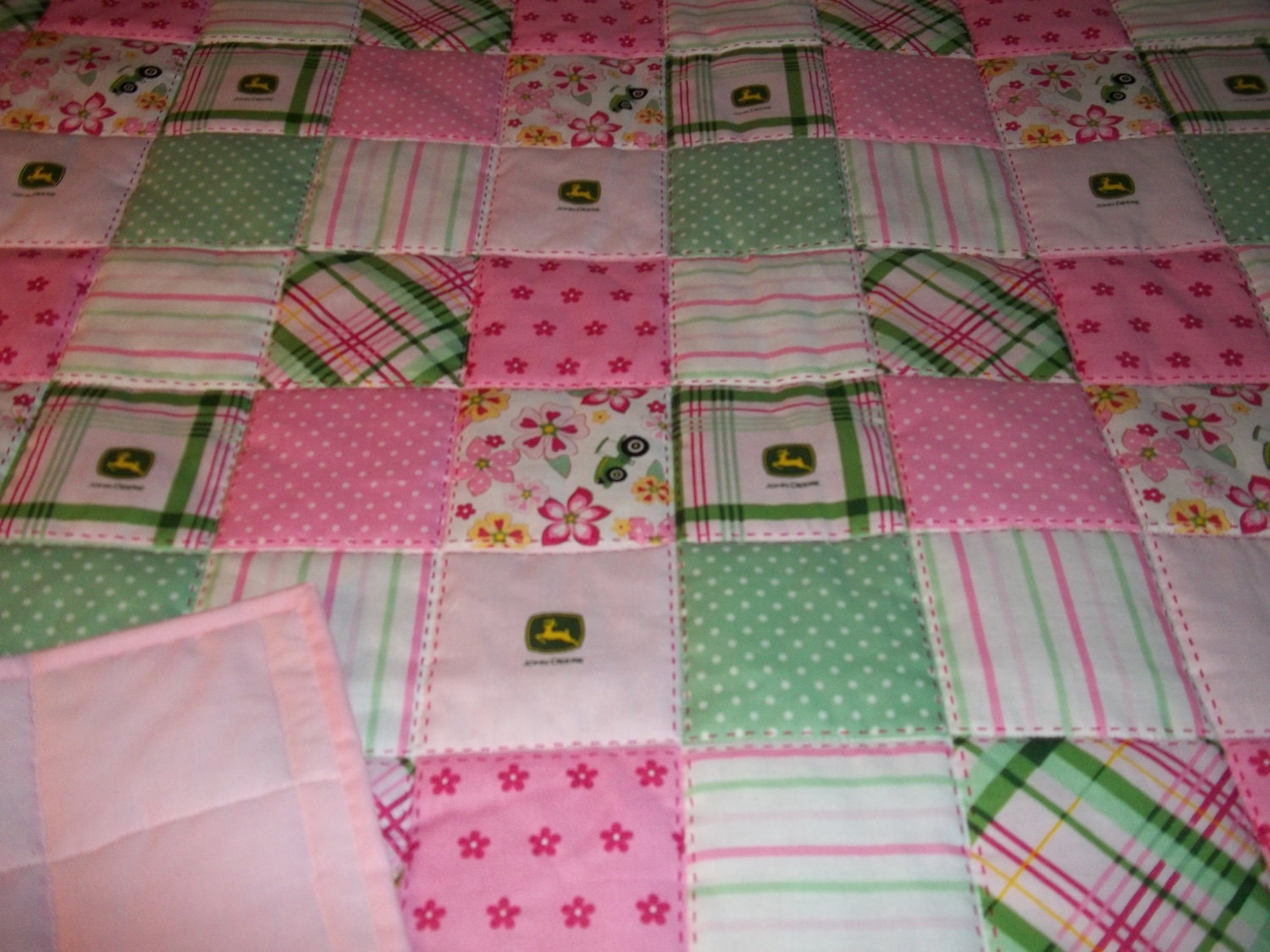 John Deere Bedding Pink Green New Girl S Homemade Baby