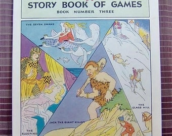 Antique Children's Book Advertising Premium Kellogg's Story Book of Games