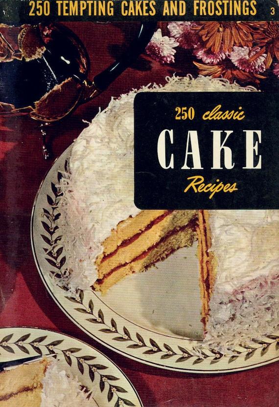 Cake Art Classes : Vintage Cookbook 1950s CULINARY ARTS INSTITUTE 250 Class