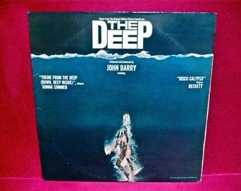THE DEEP - Soundtrack - 1977 Vintage Vinyl Record Album...includes BLUE Vinyl and Poster