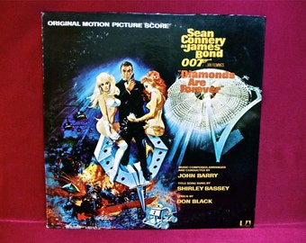 DIAMONDS Are FOREVER - Original Soundtrack -  1960s Vintage Vinyl Record Album