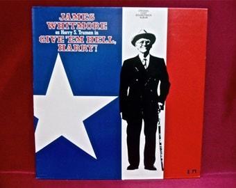 GIVE'em HELL, HARRY - Original Soundtrack - 1975 Vintage Vinyl 2 lp Record Album
