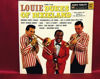 LOUIE Armstrong and the DUKES of DIXIELAND - 1960 Vintage Vinyl Record Album