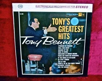 TONY BENNETT - Tony's Greatest Hits - 1962 Vintage Vinyl Record Album