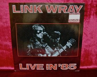 LINK WRAY - Live in '85 - 1985 Vintage Vinyl Record Album