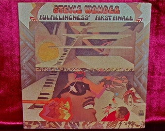STEVIE WONDER - Fulfillingness' First Finale - 1974 Vintage Vinyl GATEfold Record Album