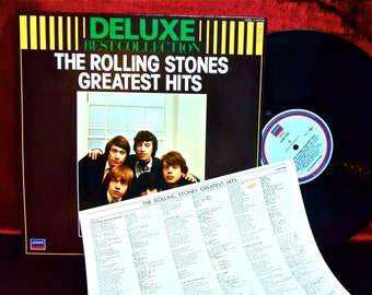 The ROLLING STONES - Delux Best Collection...The Rolling Stones Greatest Hits - 1980s Vintage Vinyl Record Album...JAPANESE Pressing