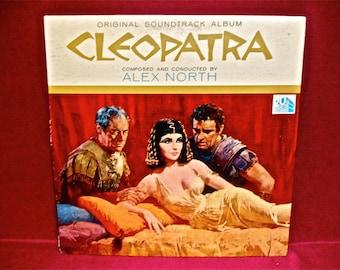 CLEOPATRA - Original Soundtrack - 1960s Vintage Vinyl GATEFOLD Record Album