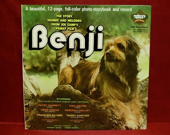 The STORY of BENJI - Original Cast Members - 1975 Vintage GATEfold Vinyl Record Album...including a 12-page, Full-Color Photo-Storybook