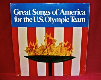 SEALed...Great Songs of America for the US OLYMPIC TEAM - 1983 Vintage Vinyl Record Album