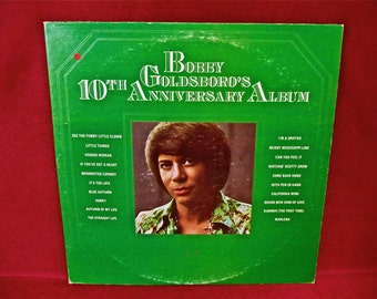 BOBBY GOLDSBORO - Bobby Goldsboro's 10th Anniversary Album - 1974 Vintage Vinyl 2 LP GATEfold Record Album