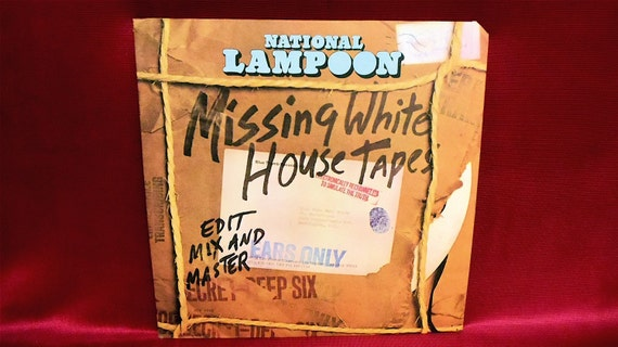 """NATIONAL LAMPOON -  """"Missing White House Tapes"""" - 1974 Vintage PROMOtional Copy Record Album"""