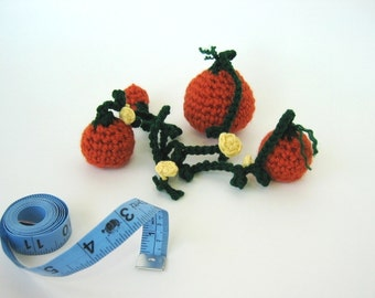 Crochet Pattern Amigurumi Pumpkin Patch Harvest Thanksgiving Halloween Decoration- PDF Format- Permission to Sell what you make