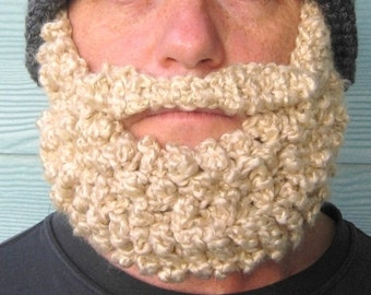 BEARD for Beanie Hat Child or Adult - Beard Only ties around the ears - Santa Style