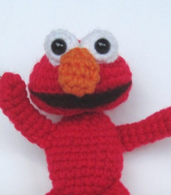 Crochet Pattern Amigurumi Elmo Inspired Pdf Format Sesame