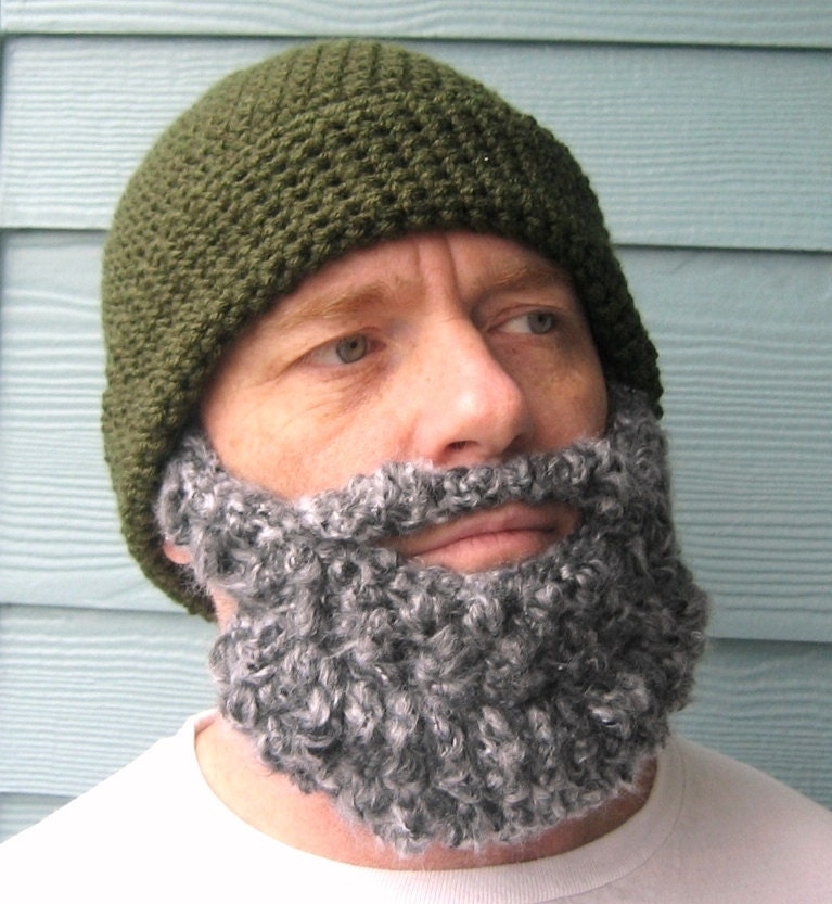 Free Knitted Beard Pattern : Crochet Hat Pattern Beard PATTERN Beanie Santa Claus Hat