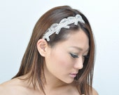 COCO'S BOW beaded rhinestone bows with crystal band.