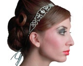 Bridal crystal scroll jewel headband.  RENAISSANCE