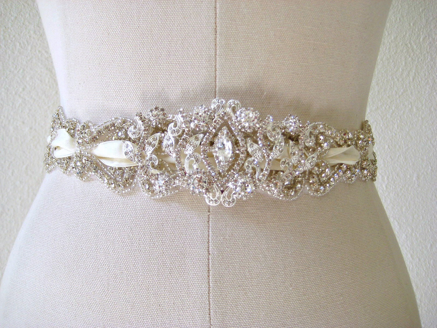 Crystal Wedding Sash