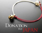 """100% Donation """"Horai Bell (Japanese bell for peace)"""" Bracelet (Gold)"""