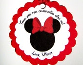 Minnie Mouse Favor Tag in Red