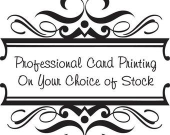 Professional 5.5x4 inch Card Printing