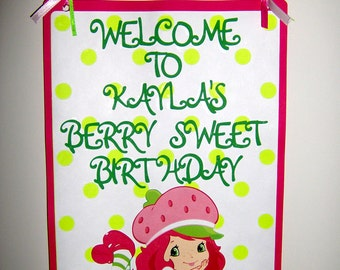 Strawberry Shortcake Die Cut Door Sign
