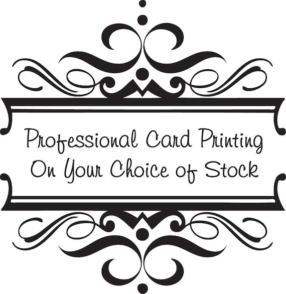 Professional 7x5 inch Card Printing