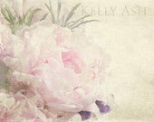 Romantic VIntage Shabby Chic Pink Peony, Floral Fine Art Photograph,  Home Decor