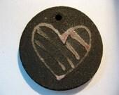 Valentines Heart Ceramic Pendant