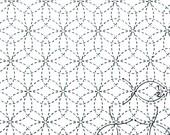 Daisies 12 - White Sashiko Sampler with Thread