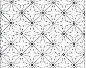 Stars 55 - White Sashiko Sampler with Thread