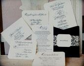 Wedding Calligraphy Invitation---Hand Written Invitation Image-- The Traditional Font