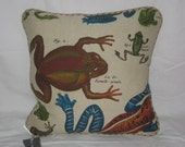 Frog Pillow Cover 16x16