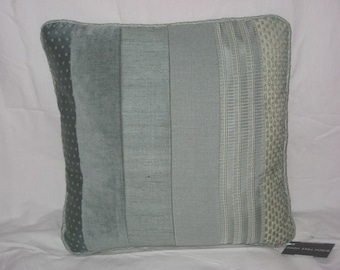 Tonal Texture Smoky Blue Pillow Cover 18x18