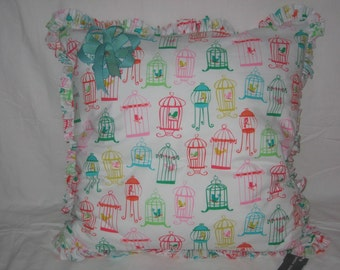 Birdcage Pillow Cover 24x24
