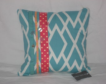 Aqua Pillow Cover 14x14