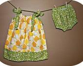 Pucker Up - Pillowcase dress and bloomer set