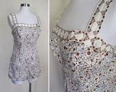 50s Jantzen BONED Bodice Swim Suit XXL PLUS Size