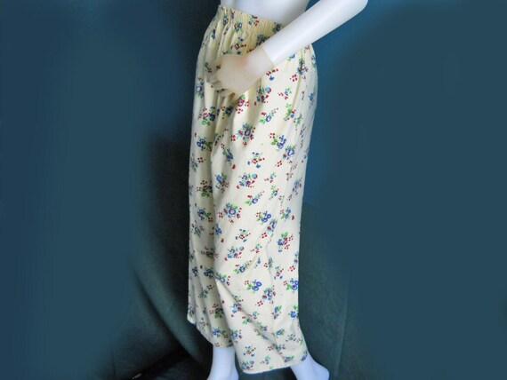 Vintage Pajama Pants 50s Cozy PJ Bottoms Wallpaper Floral
