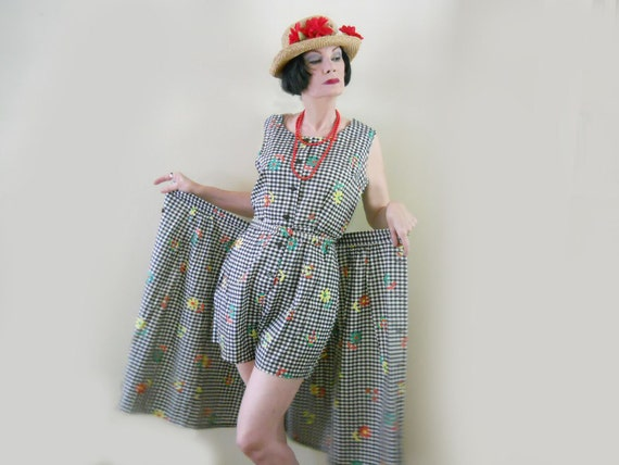 50s Romper & Skirt Set // Large // Women's Size // No Shipping Charges